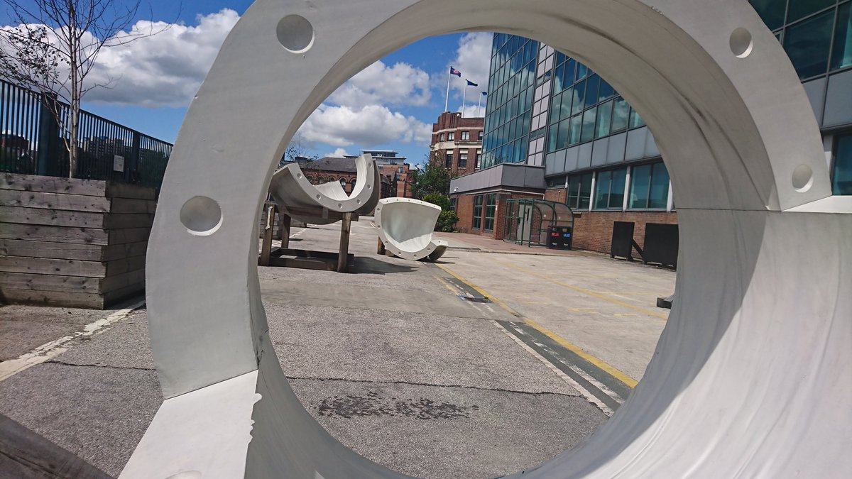Very much looking forward to the launch later @The_Tetley. Holly Hendry's Cenotaph already looks amazing in the sunshine. Got a sneak peak yesterday of Ever by Nika Neelova. Wow. 6pm, free and donations welcome! #sculpture #Leeds