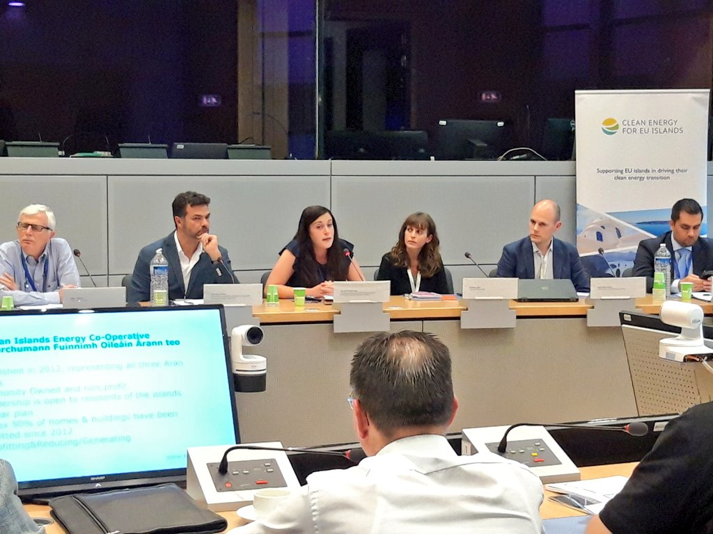 Irish #islands of Cape Clear and Aran Islands show how the #energy #transition led by #citizens and local #businesses can leapfrog with support of #EU initiatives. Looking forward to seeing more #EU support for #citizen initiatives! 🎊 #EUSEW19