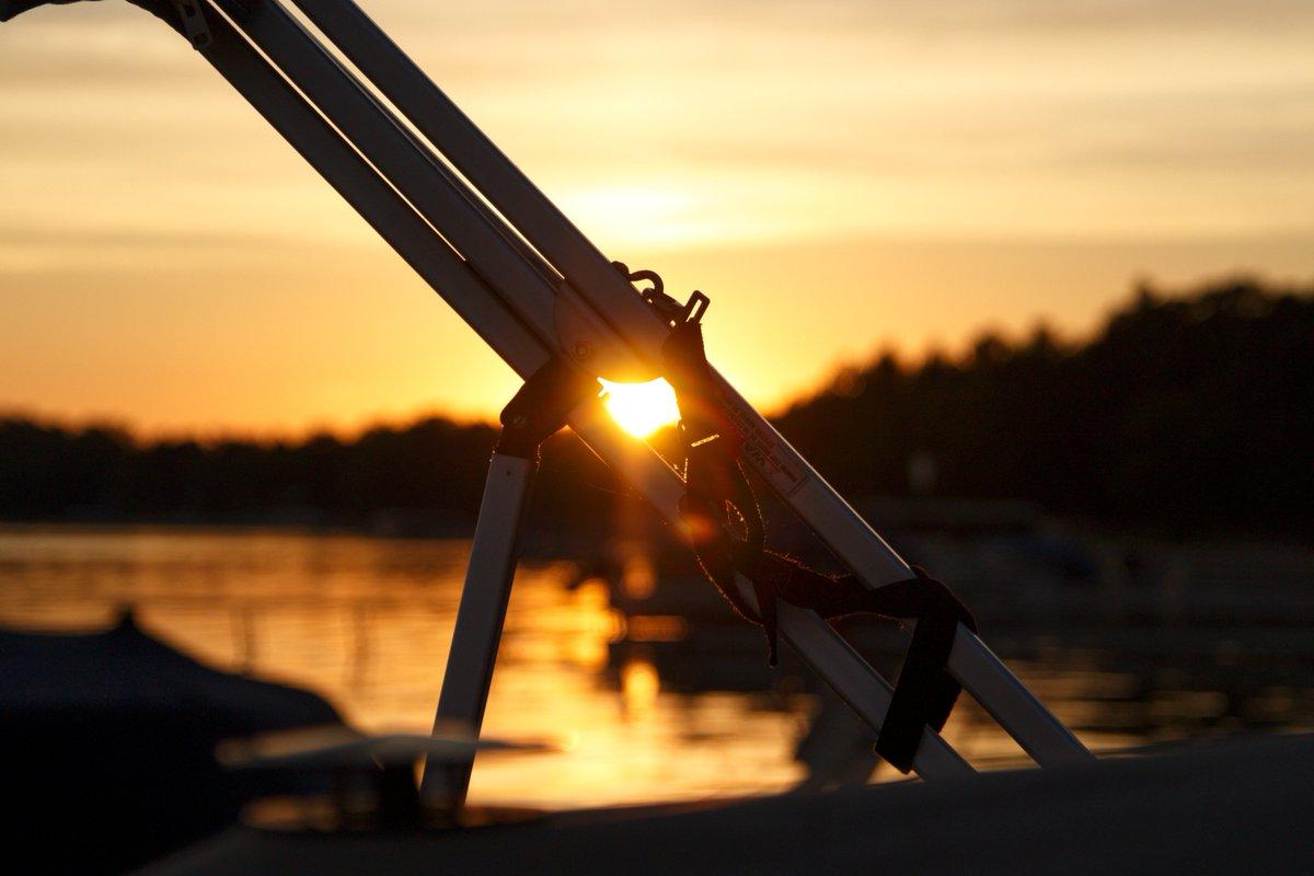 Sunset on the lake. . . . #puremichigan #michigan #higginslake #lake #sunset #summer #color #canon