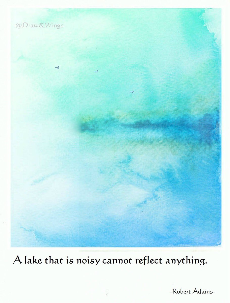 A lake that is noisy cannot reflect anything.   -Robert Adams-   #noisy #lake https://t.co/Gkwhv0whJe