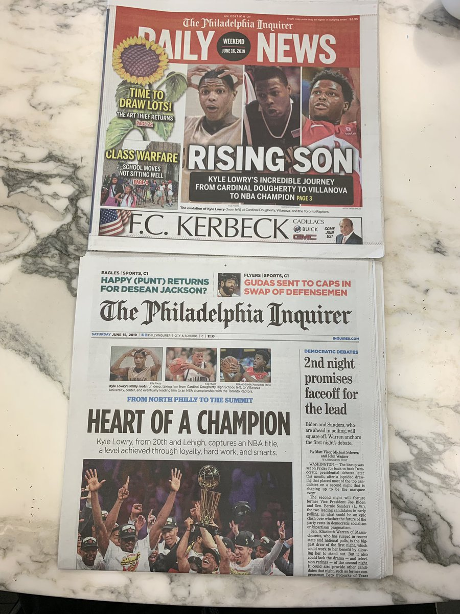 This was placed on my desk yesterday someone flew thru the Philly airport and picked up these gems!  Nothing like a Daily News and The Inquirer....BONUS with north Philly @Klow7 pictured winning the LOB hardware. Congrats Kyle!  Super proud of you! PHILLY STAND UP!  #phillyish