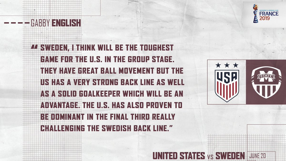 Who else is ready for today's big game? We're taking the #USWNT!  #HailState🐶 | #USA vs #SWE