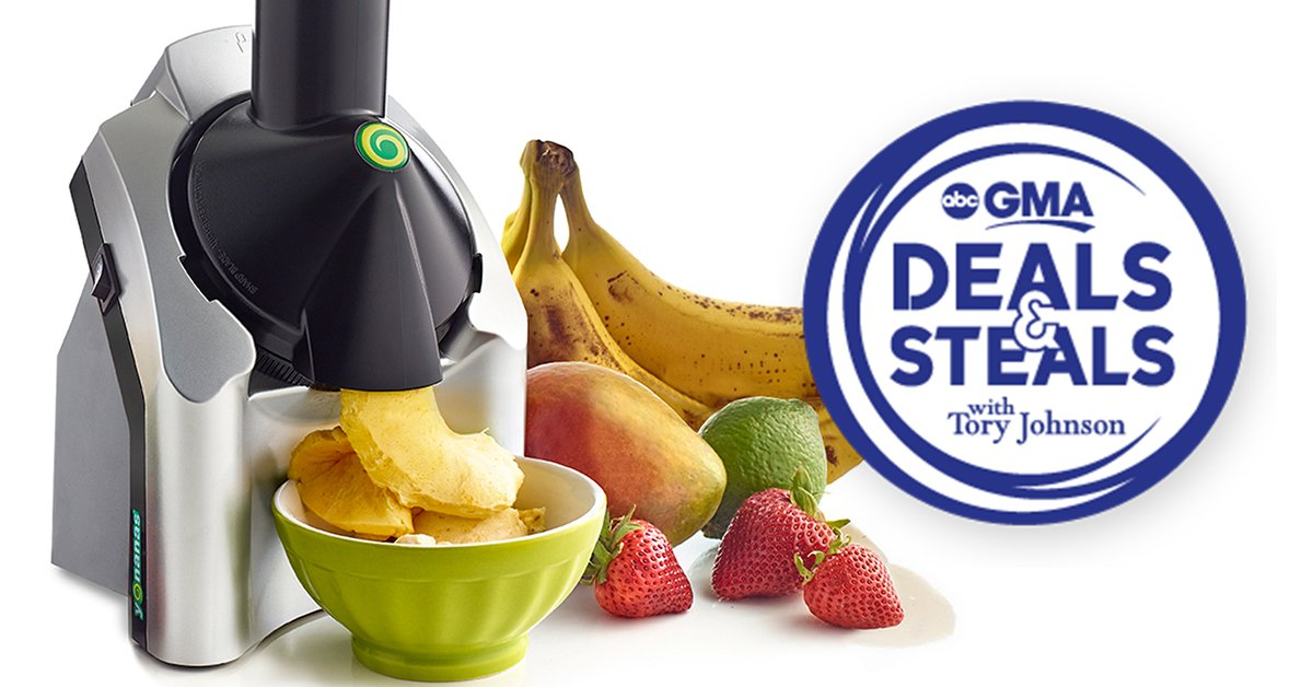 It's our BIGGEST DEAL yet! Get Yonanas Classic for only $20 as part of GMA Deals & Steals: https://t.co/QTJ321due8  Hurry! This special offer ends at midnight on 6/20/19 or while supplies last. #GMADeals #yonanas #nicecream https://t.co/Zw4sDB3mXR