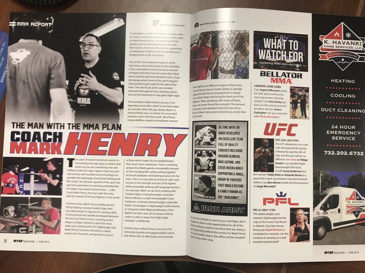 My latest @NYSFmag article on the man with the mma plan Coach Mark Henry.. check it out!   @FrankieEdgar @CoreyA_MMA #ufc