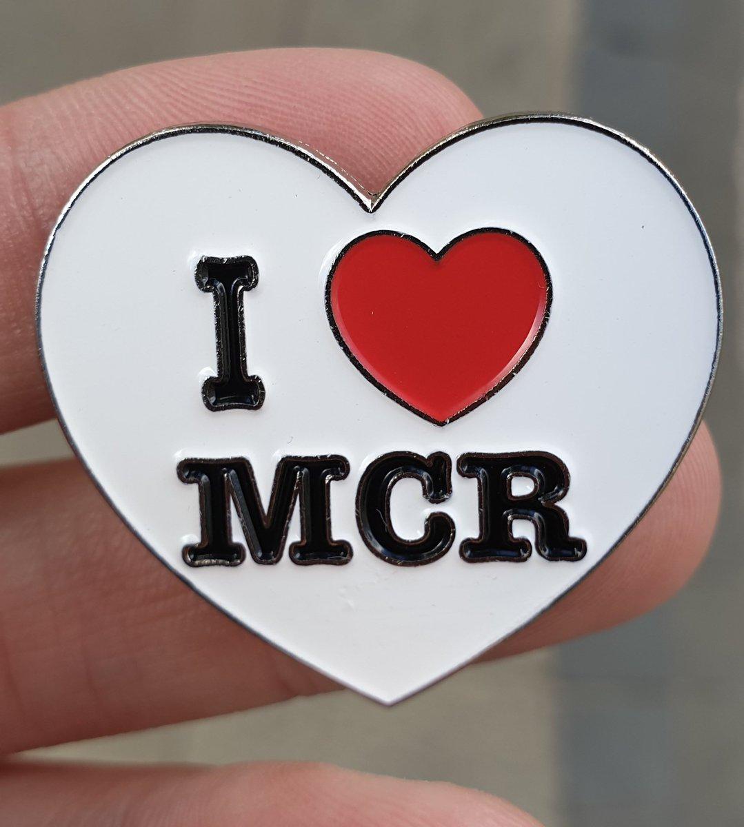 A I ❤ Manchester Pin. #freestuffmanchester #freestuff