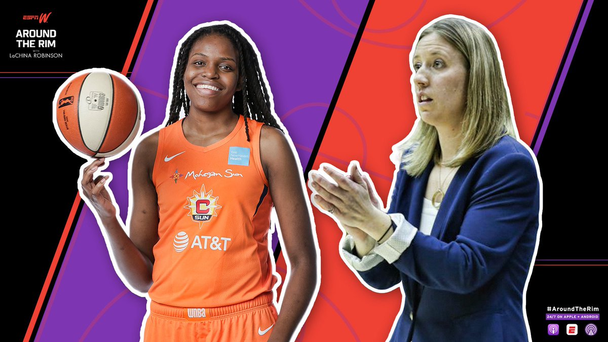 """New #AroundTheRim 🔥🔥  LaChina & Dev examine some #WNBA teams and play a little game of """"Hot or Not"""" Plus:   🎙️ Sun F @jus242 joins to discuss the team's recent success  🎙️ @CoachLindsayG fills us in on her new role as the Cavs Asst. Coach #NBA  🔊📲 https://es.pn/2Y3ktXI"""