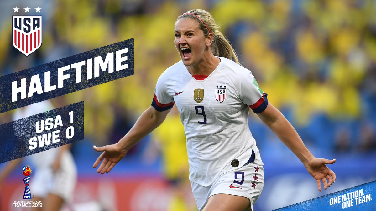 Great start in Le Havre.#SWEUSA | #FIFAWWC