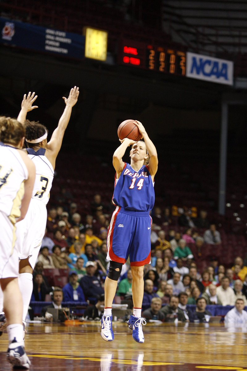 What a great day for a TBT!   Screaming Happy Birthday our sharp shooting all-star, @alliequigley! 🎂 🎉   You can wish her a happy birthday by watching her play at 7PM tomorrow night as @wnbachicagosky take on the Indiana Fever!   #ShootersShoot #BackToBack #DePaulBall
