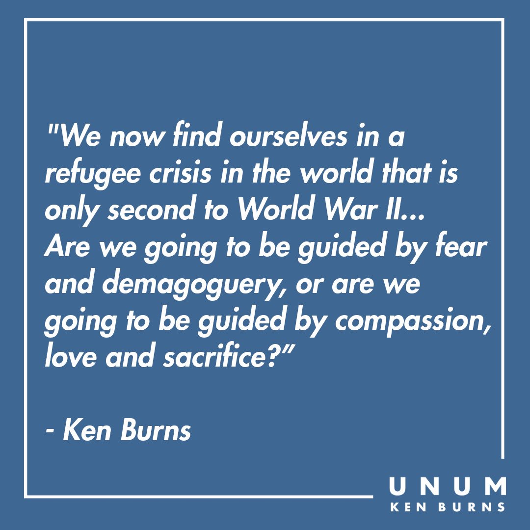 Today is #WorldRefugeeDay. Learn how how you can help from the International Rescue Committee @theirc. Here's a clip from @KenBurns The Statue of Liberty - to.pbs.org/2FnqneH #WorldRefugeeDay