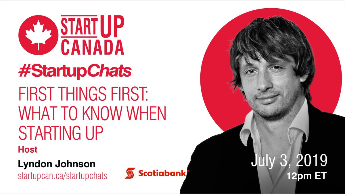 What do you need to know when you're starting up? Join #StartupChats w/ @Scotiabank to learn about making digital banking work for you on July 3! http://ow.ly/DAQA30nQCUj #startup #smallbiz #startingup #entrepreneur