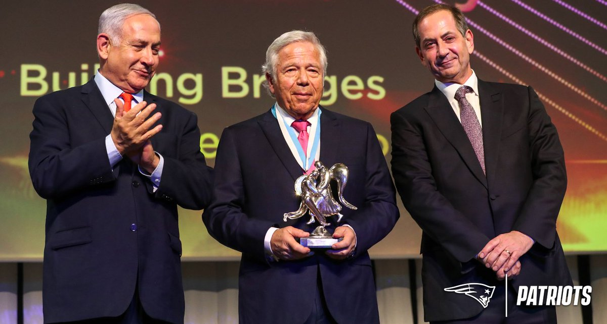 Robert Kraft wins @TheGenesisPrize for his outstanding professional achievement, contribution to humanity, and commitment to Jewish values: http://bit.ly/2WTGwys