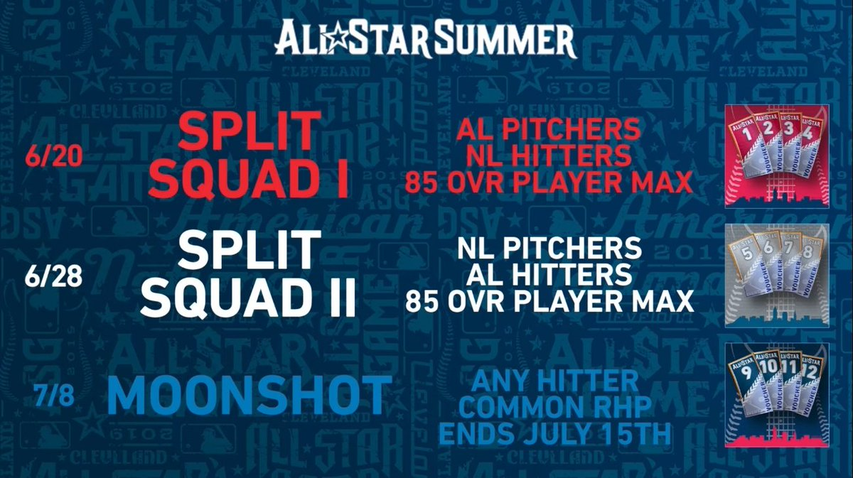 All Star Summer Event info! You exchange the vouchers for 2 signature series players! 94 Travis Hafner & 97 Omar Vizquel!