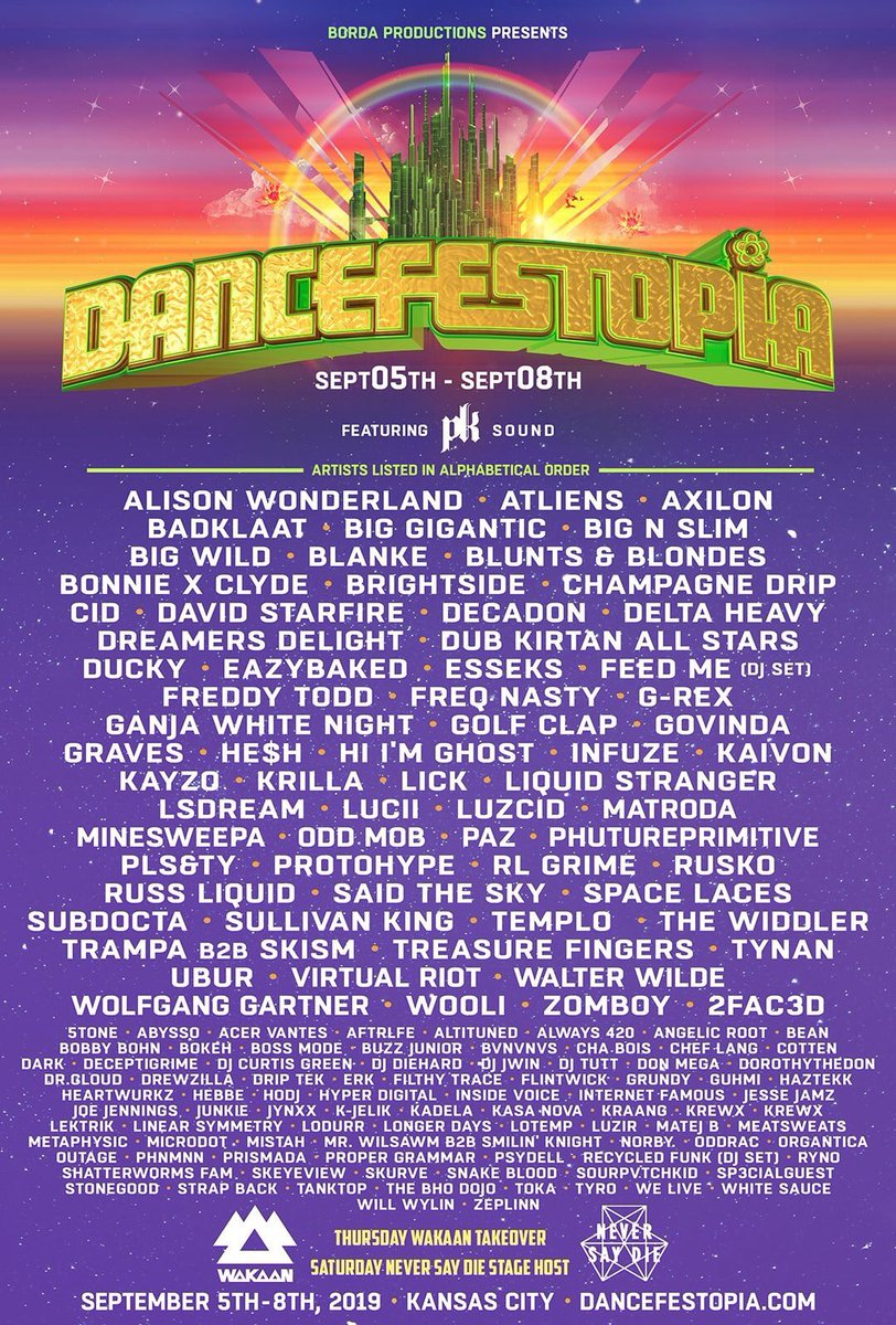 Giving away a pair of tickets on my personal guest list to @Dancefestopia!  Follow / RT / Tag a friend to enter! https://t.co/6yCID38Xjf