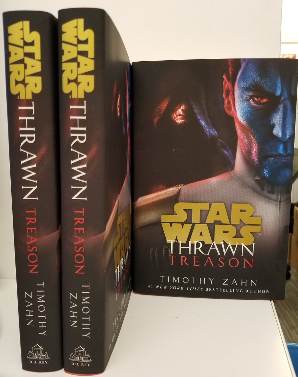 RT @DelReyStarWars: 'He's right behind me, isn't he?'  Finished Thrawn: Treason copies arrived in the office. https://t.co/kJuBqbCnmk