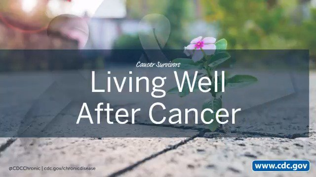 Image for the Tweet beginning: Cancer Survivors: You can live