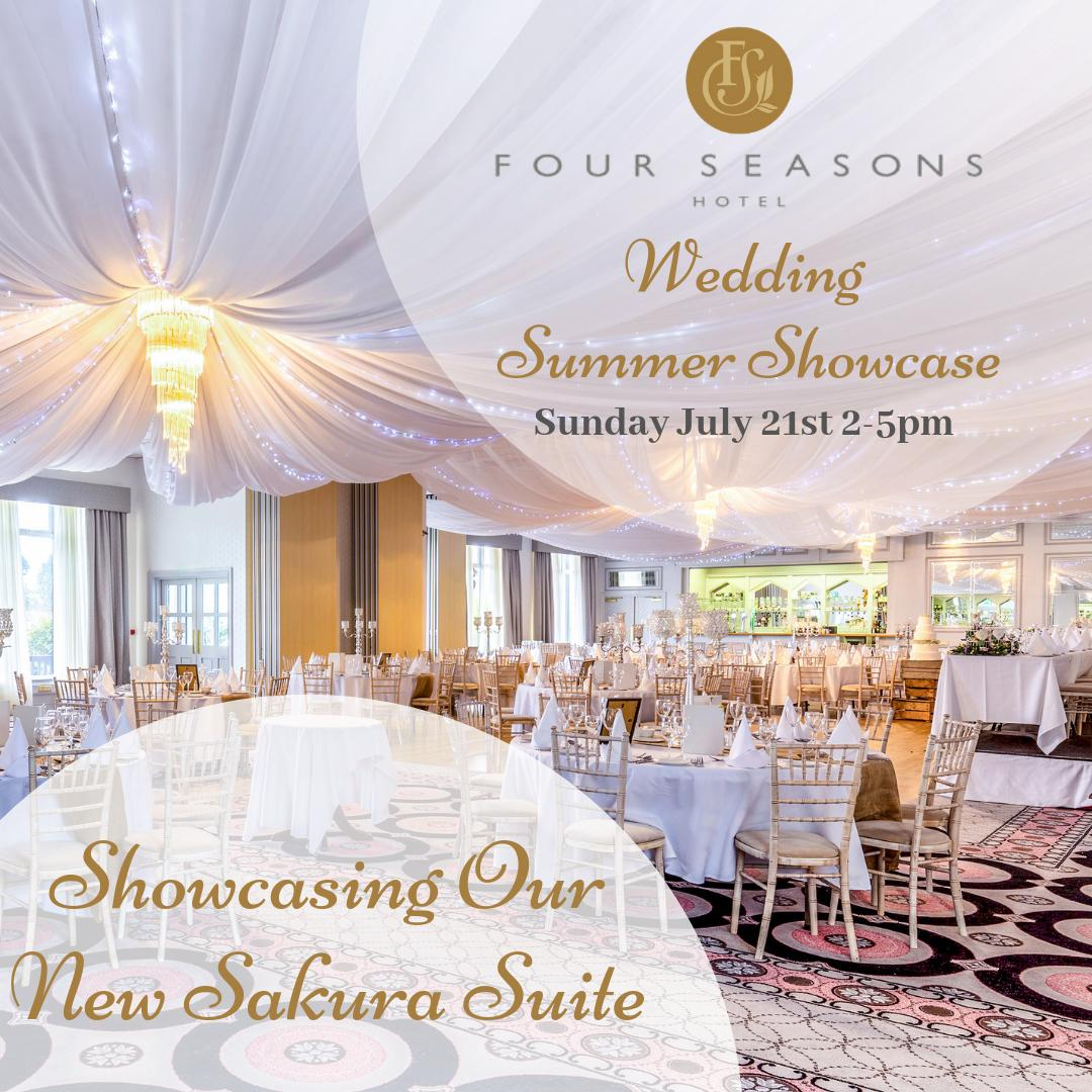 Calling All Engaged Couples 💍💕 We are delighted to announce that our Wedding Summer Showcase will take place on Sunday July 21st from 2-5pm. It promises to be the Wedding Showcase Of The Year👰🤵 We will be unveiling our Brand New Sakura Suite for the first time on the day😍 https://t.co/uGr6HDYelY