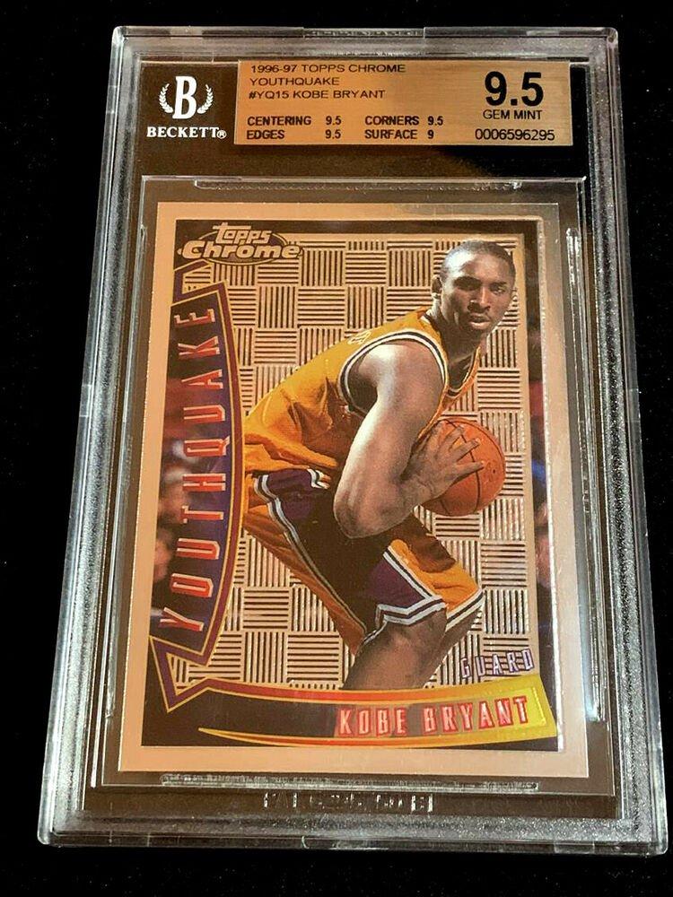 Kobe Bryant 1996 Topps Chrome Yq15 Youthquake Rookie Card