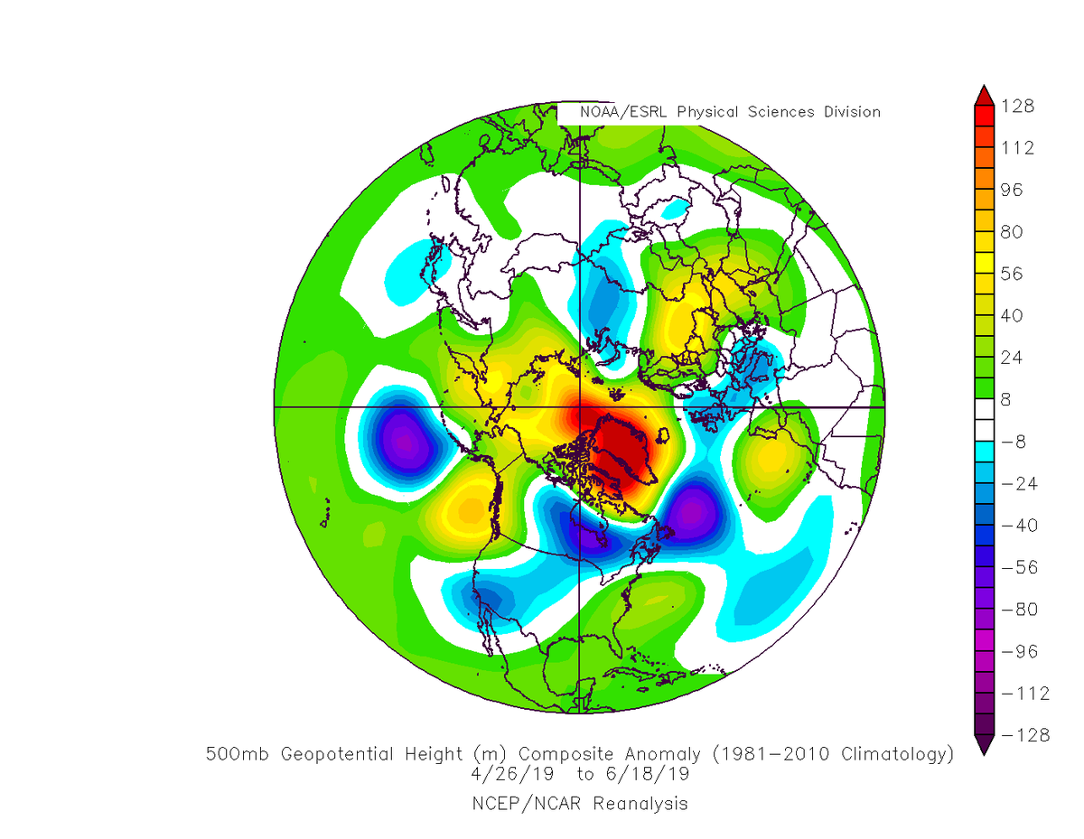 """The current negative NAO (""""Greenland Block"""") has been going on as long as the one which caused the Mid-Atlantic Snowmageddon pattern in early 2010. One of the longest runs on record, about two weeks off the top mark. Here's how they compare. <br>http://pic.twitter.com/6X12m2st4Q"""