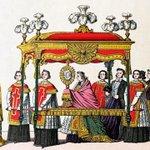 Procession de la fête-Dieu - Imagerie d'Epinal, XIXème s.
