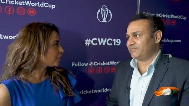 Watch @virendersehwag dish the dirt on some of his former teammates and legends of the game 😅#CWC19