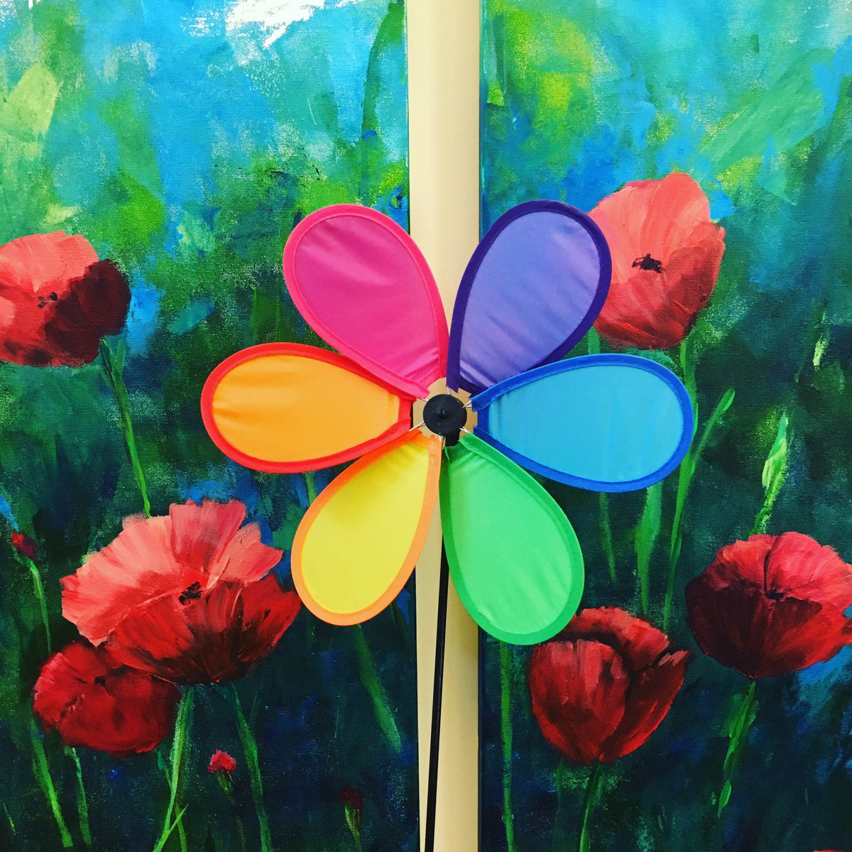 In honour of #hamiltonartsweek (June 14-21) and #pridemonth, we are sharing #flowerpower images of our inclusive art collection, with a little extra rainbow of colour added! #safespace #safe #marypatfuchs #lgbtq #lgbtq2s+ #pride #wellwood @HamArtsCouncil @HamiltonPride #HamOnt