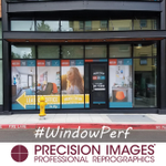 Just in! We printed and installed this window perf for the new Hub 9 building. The images on the outside are vibrant and beautiful, yet from the inside the view looking out is unmarred! #windowperf #advertising #signage #promotion #precisionImages
