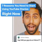 Hey #youtubers - are you using YouTube Stories yet? Here are 7 reason you need to start right now.  https://t.co/ayczmPGlWO