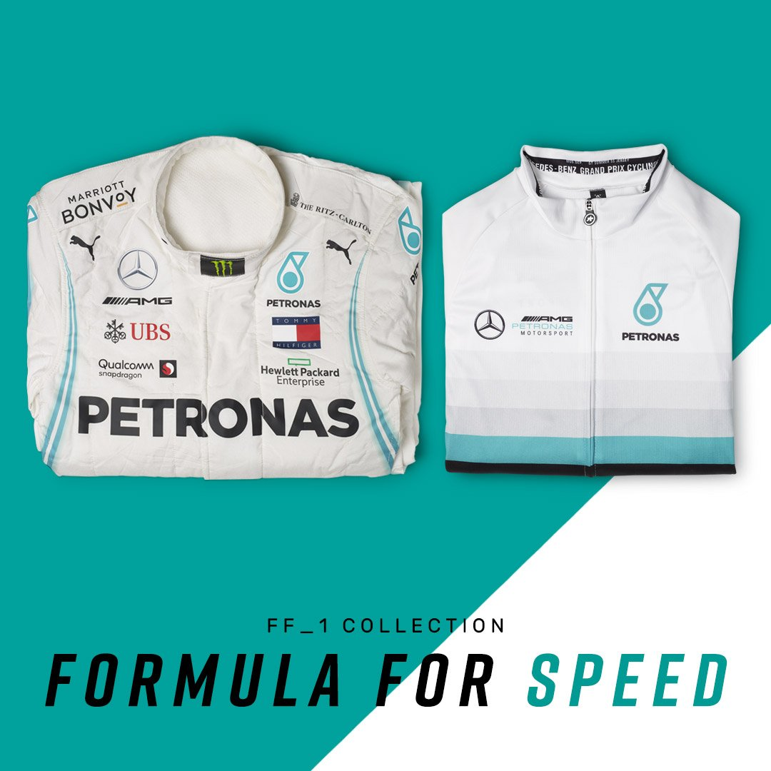 Our partnership with @MercedesAMGF1 is not just symbolic. The FF_1 collection has arrived, showcasing engineering congruent with the spirit of the most advanced motorsport in the world. Men's http://bit.ly/FF1men  Women's http://bit.ly/FF1female