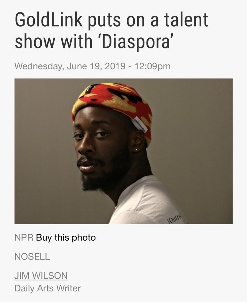 """[PRESS] 190619Michigan Daily's review of GoldLink's latest album!""""GoldLink brings on.. #JacksonWang, solo artist and member of Korean boy band #GOT7, (who brings a) lighthearted performance to an already boisterous and jovial track.""""Full article: http://michigandaily.com/section/arts/goldlink-puts-talent-show-diaspora…"""