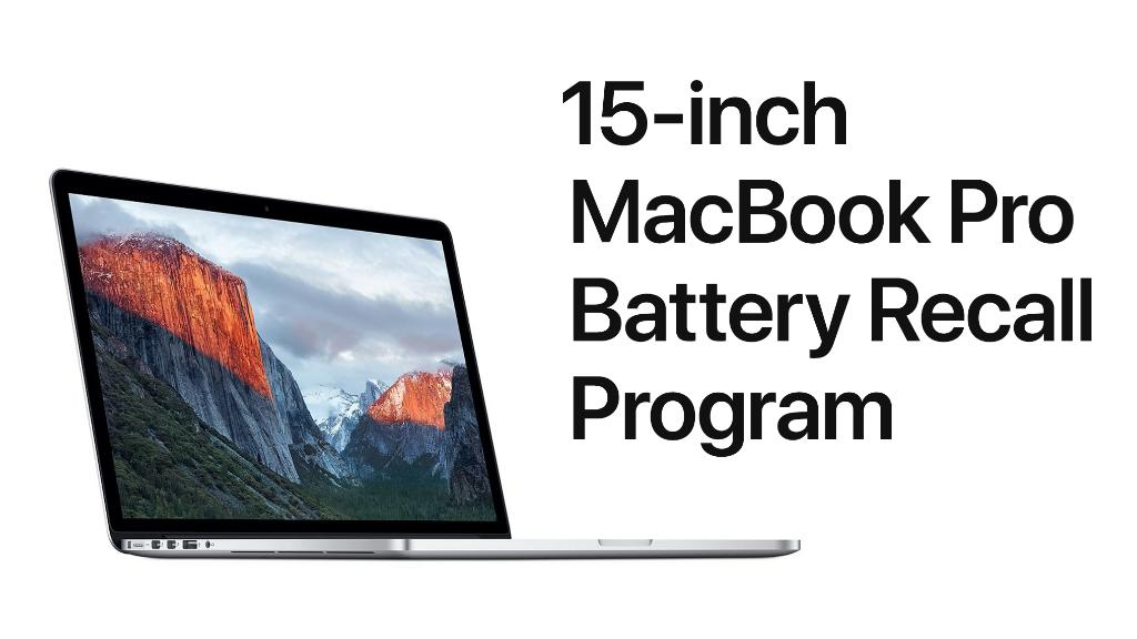 Apple is voluntarily recalling a limited number of older generation 15-inch MacBook Pro units due to batteries that may pose a fire safety risk. Check to see if your battery should be replaced, free of charge: https://apple.co/2XZkhZv