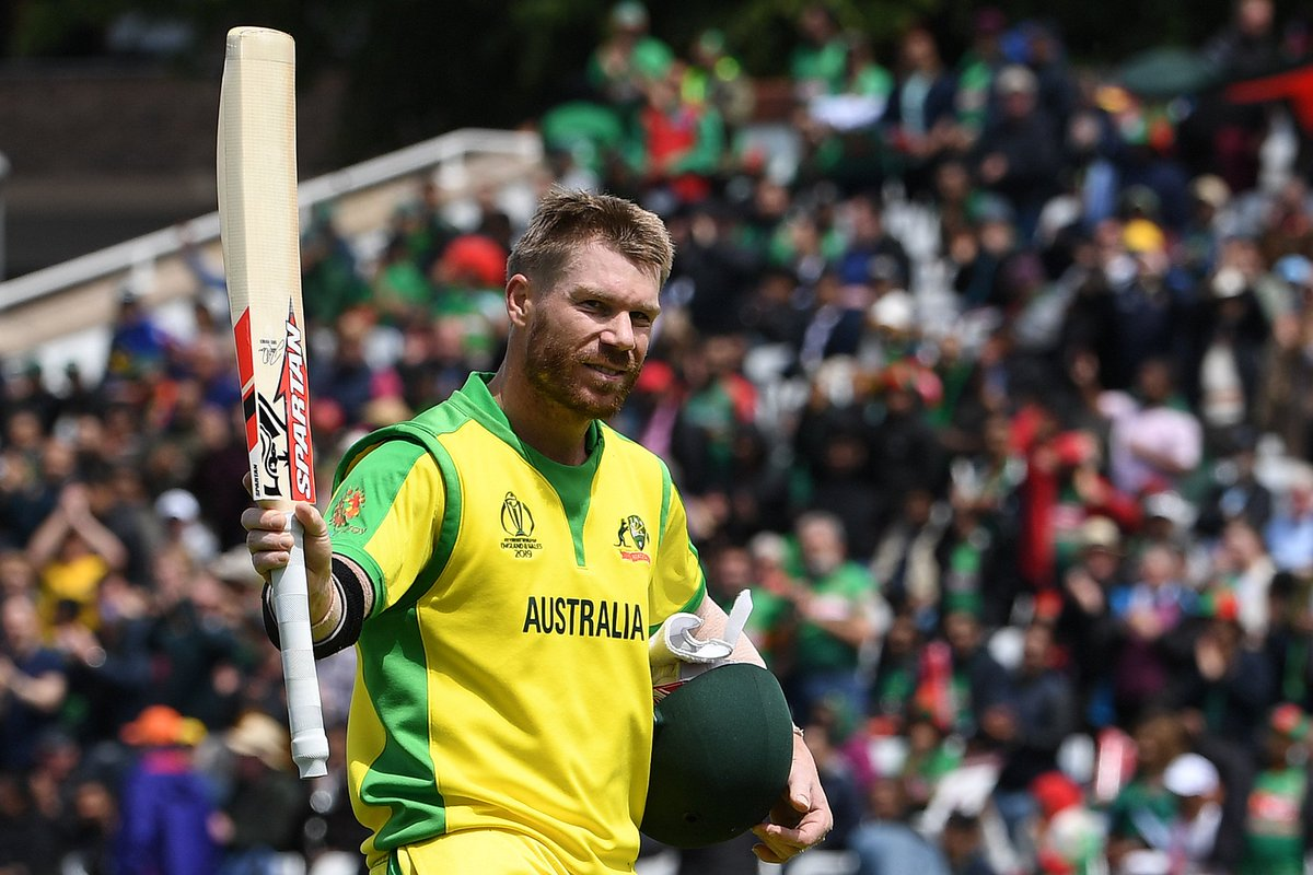 The unstoppable @davidwarner31 continued his red-hot form with a magnificent 166 while @Uz_Khawaja and @AaronFinch5 were also among the runs.Watch their best shots here!#CmonAussie | #CWC19