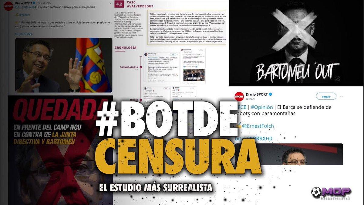 😂BOTS vs FC BARCELONA | LO ÚLTIMO DE BARTOMEU 🤦🏻♂️  ⚠️ ATENCIÓN ESTE VÍDEO PODRÍA HABER SIDO HECHO POR UN BOT  #BotDeCensura #FCBarcelona #FCBlive   ▶️https://youtu.be/hoAiRLgE51U vía @mas_que_pelotas