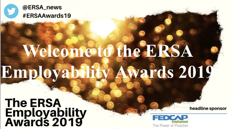 Welcome to the ERSA Employability Awards 2019! #ERSAAwards19