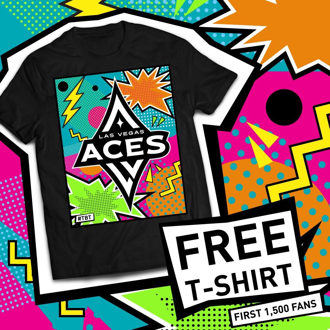 GAME♦️DAY  It's #ThrowbackThursday at The House! Break out the 90's gear, get to @MandalayBay early because the first 1,500 fans get a free Aces #TBT tee and it's $1 Laimbeer Night 🍻  ⏰ 7 PM (Fan Zone opens at 6) 🎟 http://LasVegasAces.com