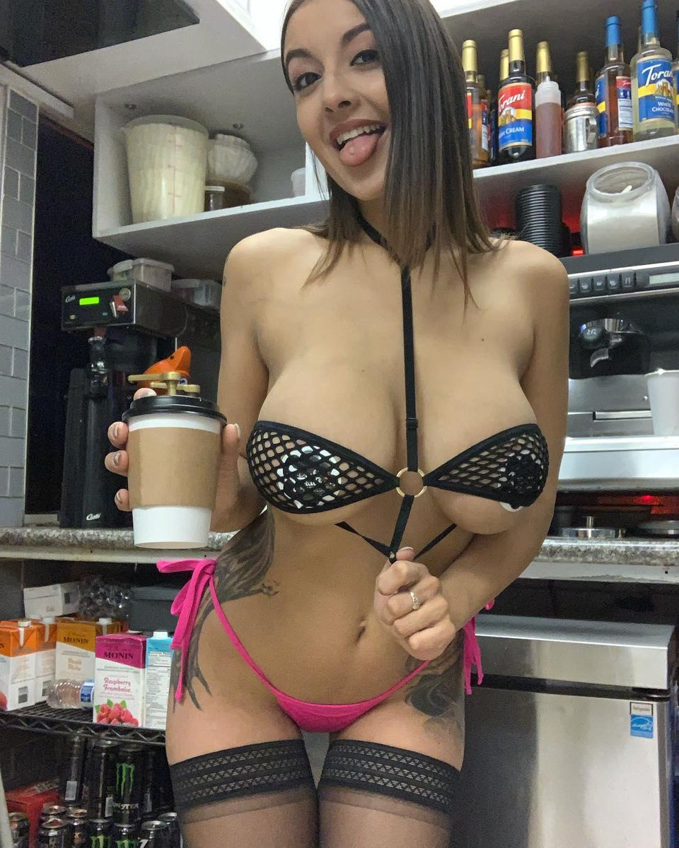 Hot barista serving more then coffee, hd porn bd