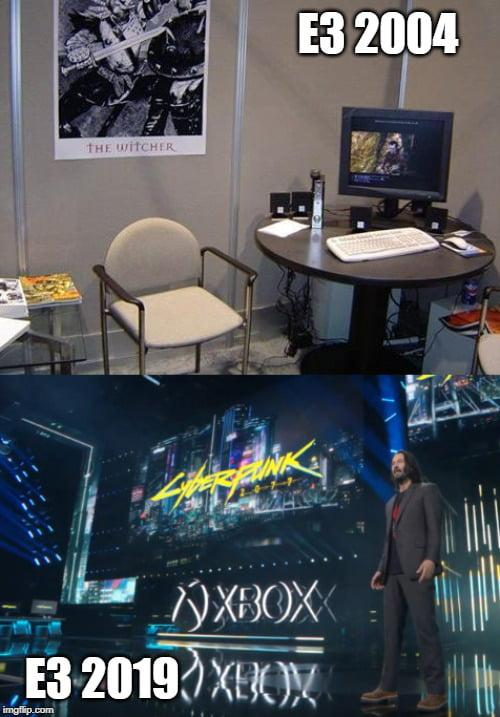 CD PROJEKT RED Have came a long way !! #thewitcher3 #e32019 #gaming #cyberpunk2077 #ps4 #xboxone #pcgames #gamer #gamingmemes #cdredprojekt #gamingcommunity #videogamesch #gamingnews #RetroGames #retrogamer  #gamerguy #videogames #VideoGameScavengerHunt #PCGamer