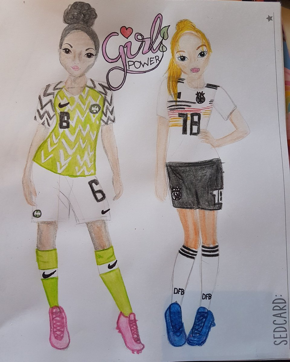 This has finally  come to realtity!!!! Wow thats Really awesome ❤ my drawing  brought a lot of luck for the #SuperFalcons #FIFAWWC