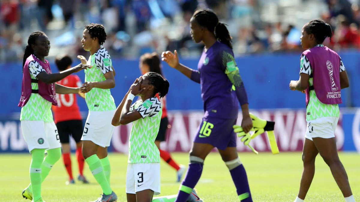 "Oh VAR where are thy sting. France racist where are thy victory. Thank you Argentina. Thank you Thailand bar.Nigerians are unbreakable. This is a finger of God to show ""we never walk alone"".Congratulations Nigeria#THACHI #Nigeria #FIFAWWC #FIFAWWC2019 #FIFAWomensWorldCup19"