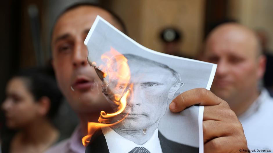 Антироссийская акция в Тбилиси (18+)