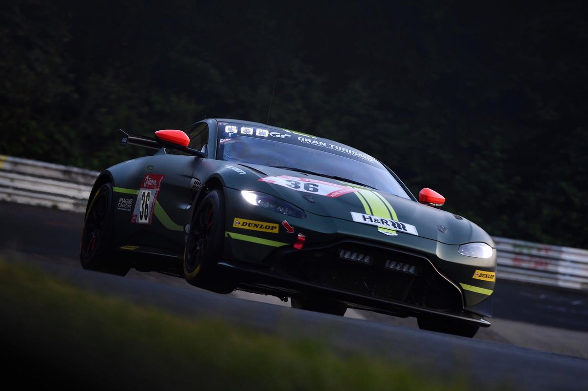 That's a pretty good start to the week's proceedings in the @24hNBR as the @AMR_Official Vantage GT4s are P1 and P4 in the SP8T class after first qualifying.  #AstonMartin #VantageGT4 #24hNBR