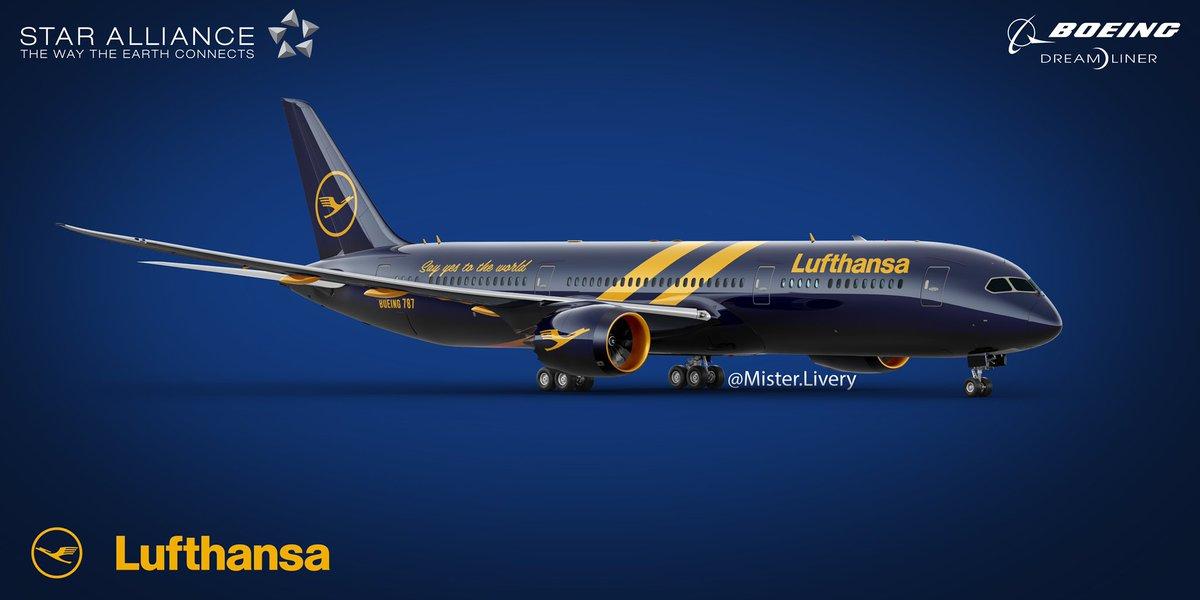 Lufthansa 787-9 Dreamliner Concept My First Livery Ever!  #aviationdaily #avporn #instagramaviation #pilot #instaaviation #planespotting #plane #aviators #instaplane #boeing #airbus #aviator #pilotlife #megaplane #airplanes #avgeeks #planes #airport #avnerd #airline #flying