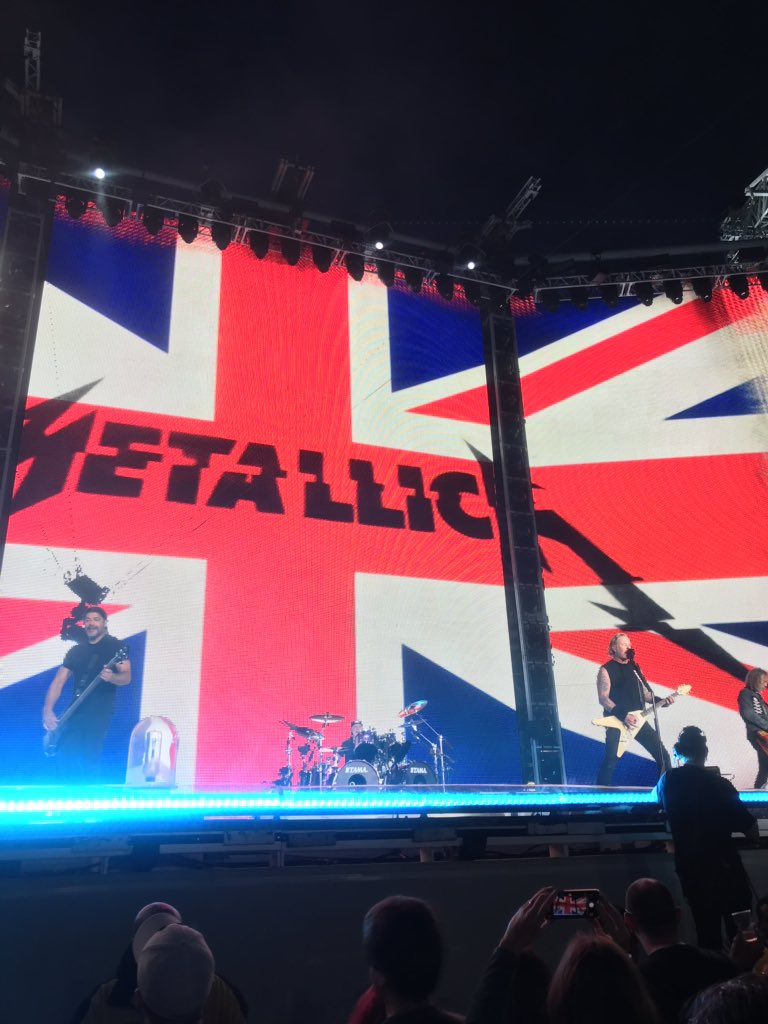 Epic evening with @Metallica 🤘🏽 – at Twickenham Stadium