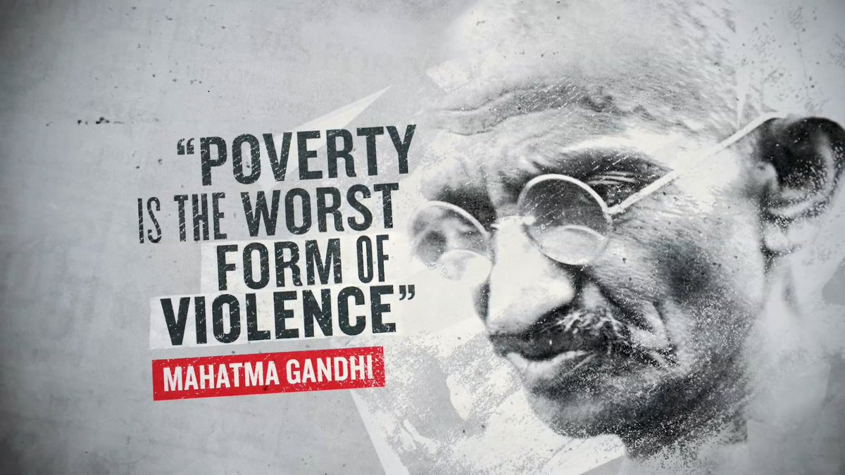 Poverty is the worst form of violence. - Gandhi #quote #wednesdaywisdom