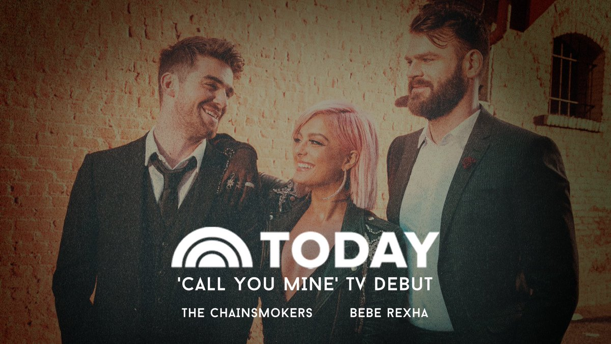 #CallYouMine with @TheChainsmokers first timee on TV 📺 📺📺 tune in tomorrow morning 8am ET/ 5AM PT on the @TODAYshow