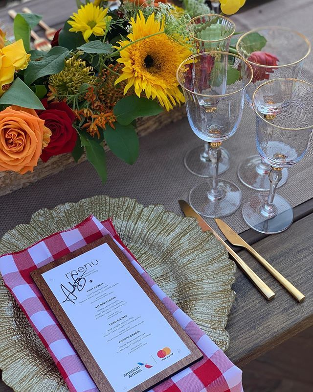 Hosting a #PricelessTable garden party at @thedallasarboretum tonight for @AmericanAir #AAdvantage @mastercard credit card holders. It was so fun creating my menu with local produce - I can't wait for everyone to try it! #gardenparty #dallas #edible #flowers #herbs #staycool