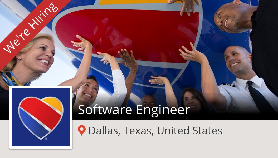 #SouthwestAirlines is hiring a #Software #Engineer, apply now! (#Dallas) #job https://workfor.us/southwest/12e6g0z236i8mx7zg…
