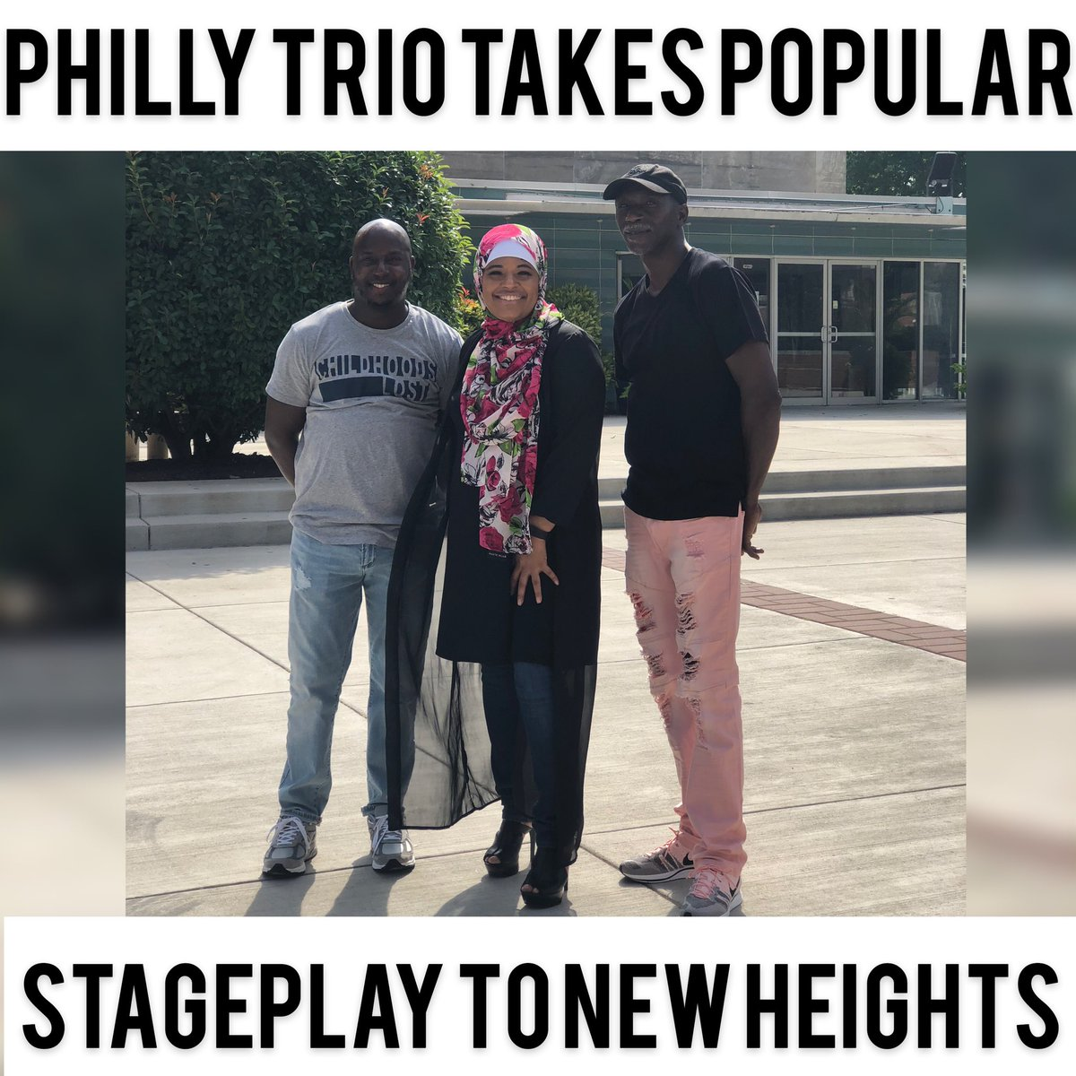 Philly Trio takes Not Without My Hijab stagePlay to new heights. Wheels up Support as we head to #Dallas https://www.launchgood.com/campaign/not_without_my_hijab_play_tour…