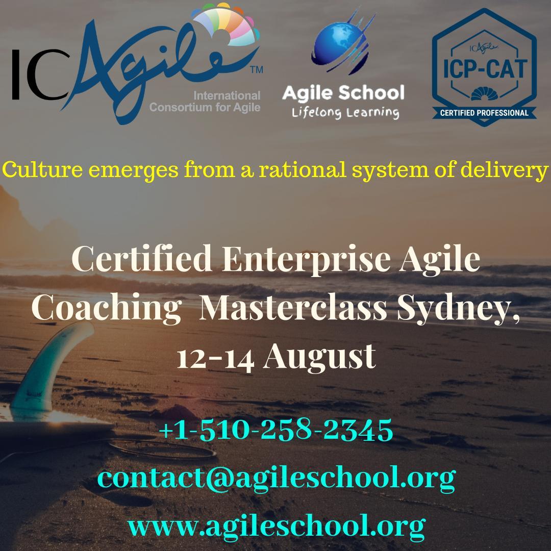 "Agile Coach Sydney ravneet kaur on twitter: ""icagile certified enterprise agile"