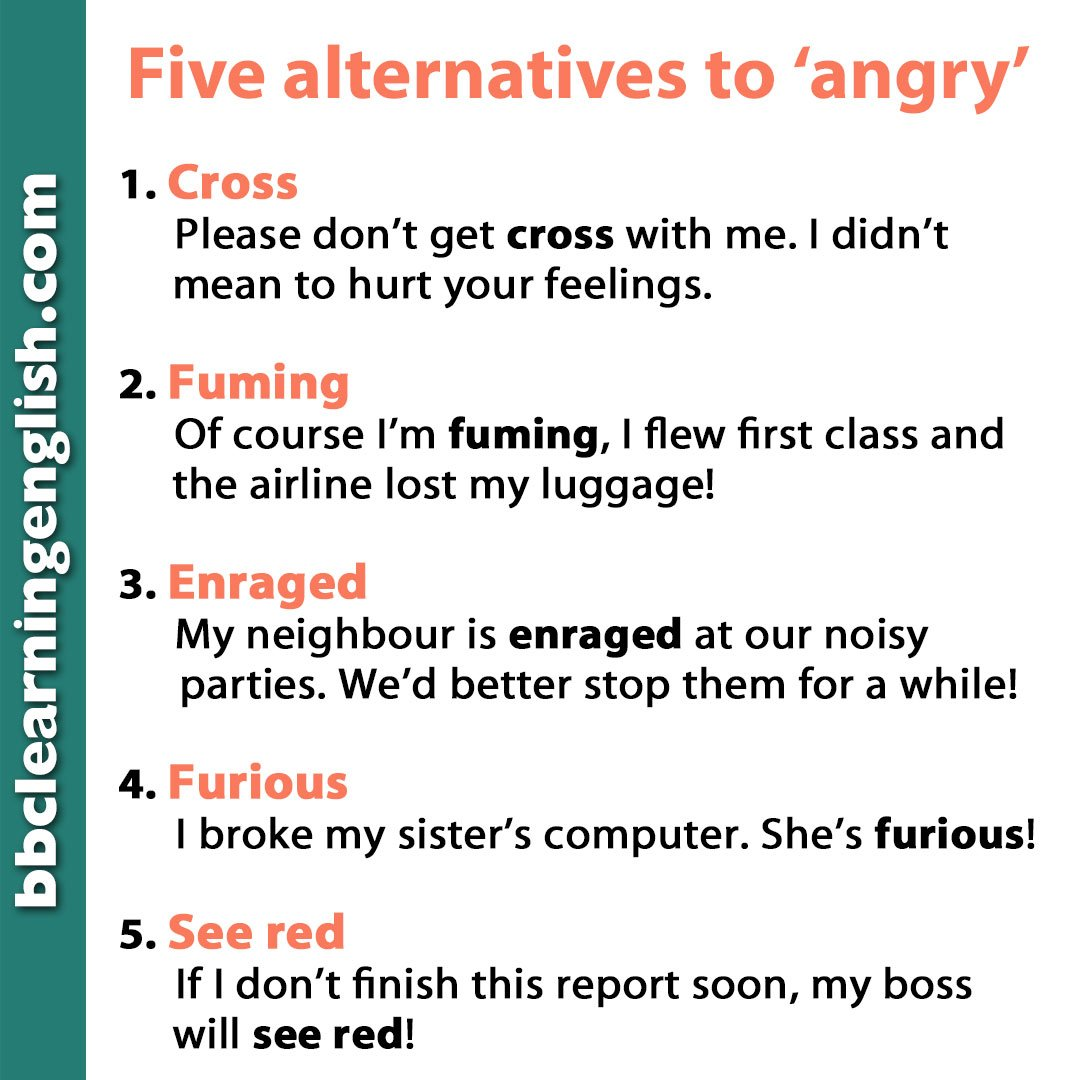test Twitter Media - 😠What makes you angry? Rudeness makes Rob see red! 😠 Here are some #alternative ways to say you're angry... For more #alternatives #vocabulary cards, click here: https://t.co/JGPtRMyCEC #bbclearningenglish #otherwaytosay #esl #elt #angry #learnenglish #speakenglish https://t.co/xry08VDdhX