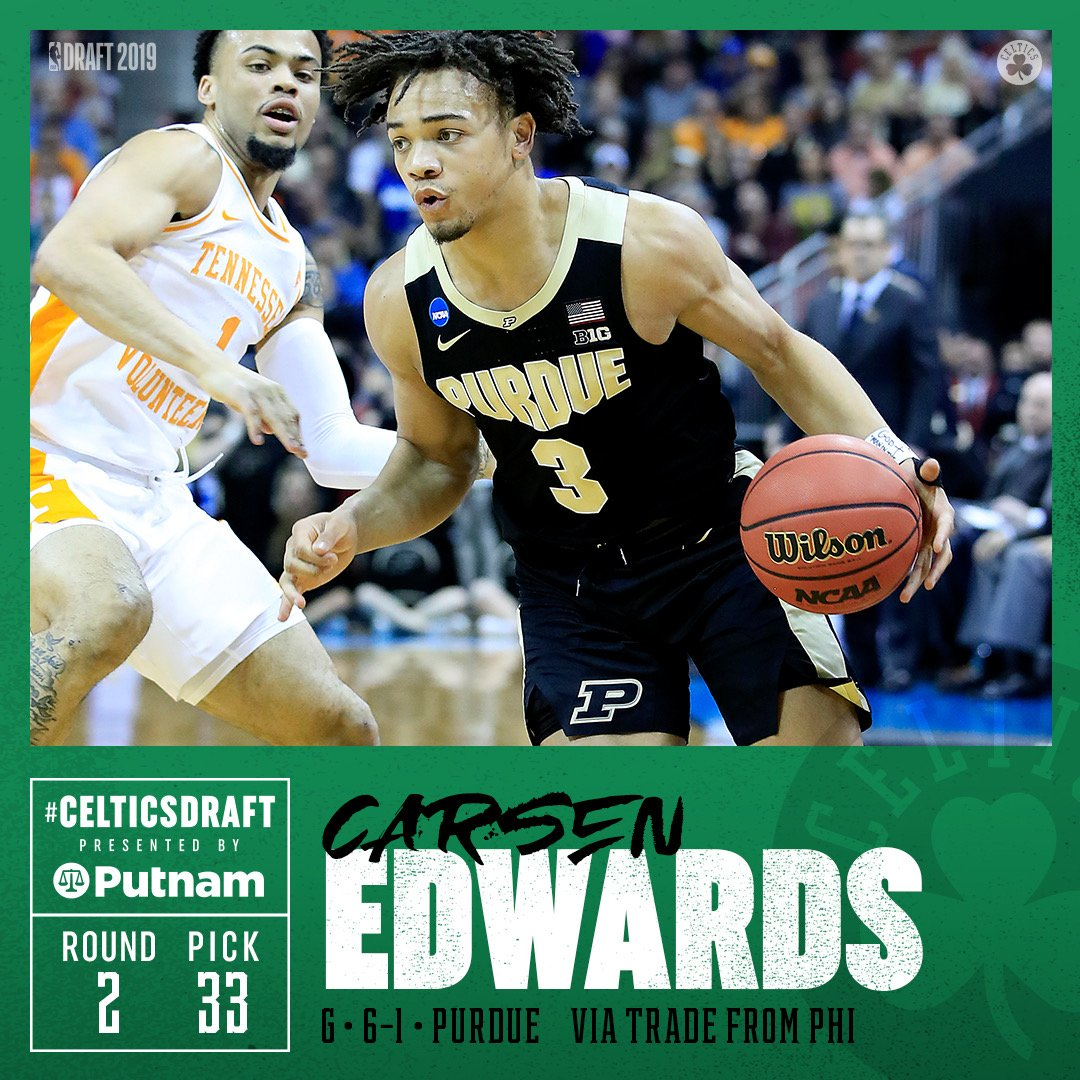 Carsen Edwards (@Cboogie_3) is officially a Celtic 🙌
